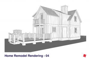 Small Home Renovation and Addition. Bengough Saskatchewan Canada-Left Rear Exterior Elevations