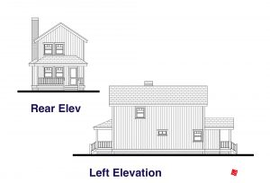 Rear, Left Elevation Plans-Custom Home | Virden, Manitoba