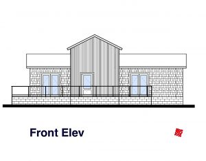 Small House Design-Front Elevation | Regina Beach, Saskatchewan