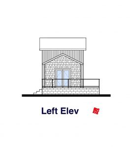 Small House Design-Left Elevation | Regina Beach, Saskatchewan
